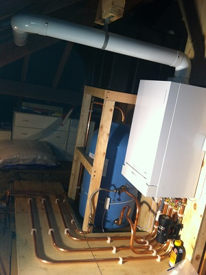 viessmann system boiler with tank and stand 1